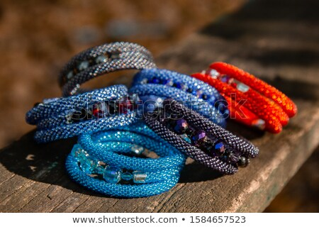bracelets with natural and synthetic beads  Stock photo © jonnysek