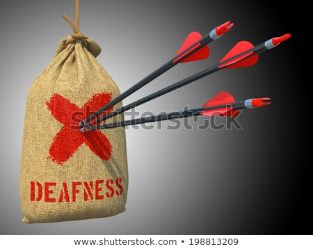 Deafness - Arrows Hit in Red Mark Target. Stock photo © tashatuvango