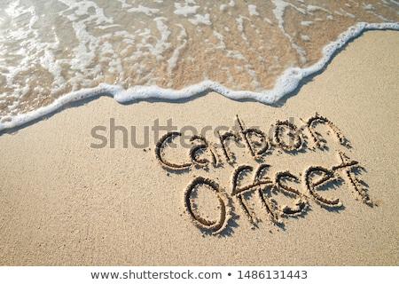 Eco arena playa agua naturaleza Foto stock © rufous