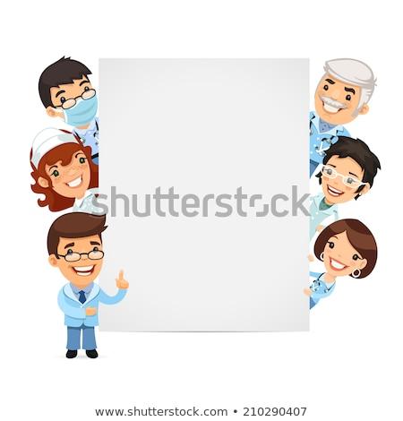 ストックフォト: 医師 · ホワイトボード · eps · ファイル
