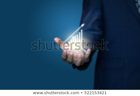 businessman write graph business stock photo © hin255