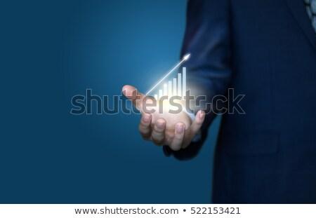 Empresário escrever gráfico negócio mão espaço Foto stock © hin255
