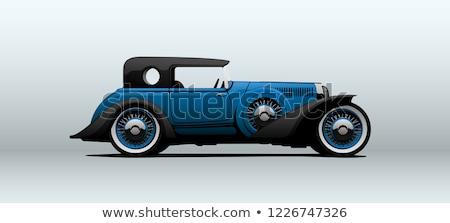 luxurious vintage car doors stock photo © aetb