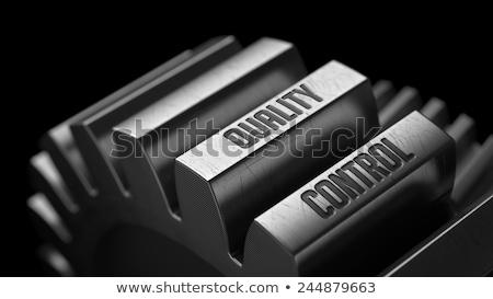 Foto stock: Alto · melhoria · metal · engrenagens · preto · negócio