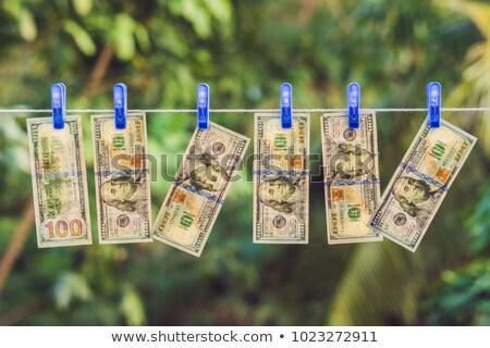 dollar · wasknijper · lijn · kleding · financieren · bank - stockfoto © valeriy