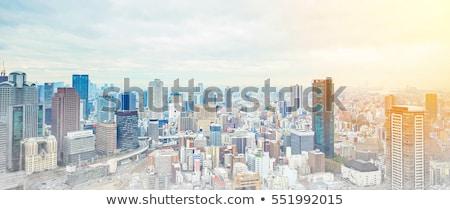 Осака город день Япония бизнеса моста Сток-фото © cozyta