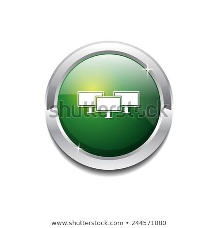 Networrk Icon Green Vector Icon Button Stock photo © rizwanali3d