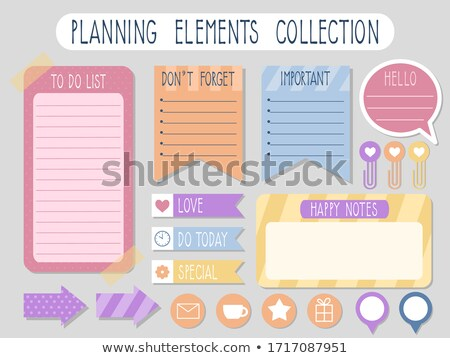 Planner with sticky note on a white background Stock photo © Zerbor