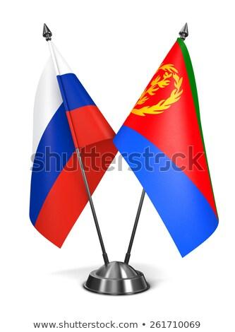 Russia and Eritrea - Miniature Flags. Stock photo © tashatuvango
