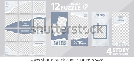 Trends gescheurd papier woord achter gescheurd pakpapier Stockfoto © ivelin