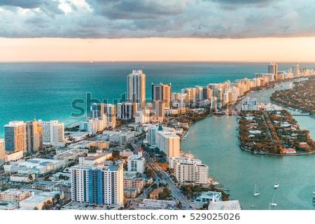 south beach skyline with ocean stock photo © meinzahn