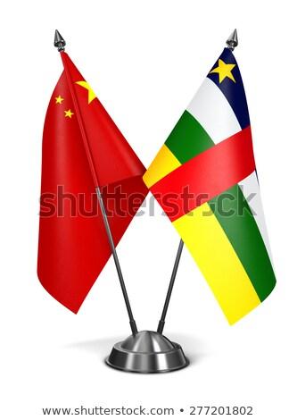 China and Central African Republic - Miniature Flags. Stock photo © tashatuvango