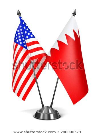 ABD Bahreyn minyatür bayraklar yalıtılmış beyaz Stok fotoğraf © tashatuvango