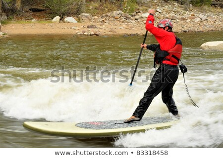 Stock photo: Stand Up Paddling Sup In Colorado