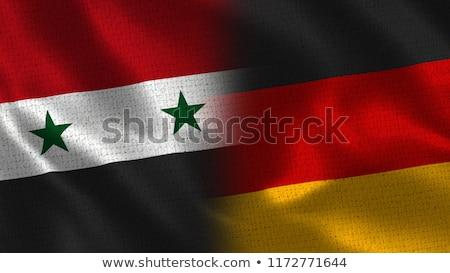 Alemanha Síria bandeiras vetor imagem quebra-cabeça Foto stock © Istanbul2009