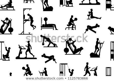 современных фитнес оздоровительный вектора иконки Сток-фото © vectorikart