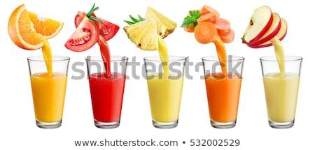 Suco de tomate vidro fresco tomates isolado branco Foto stock © tetkoren