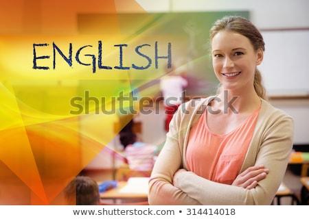 английский · обучения · язык · доске · образование · концепция - Сток-фото © wavebreak_media