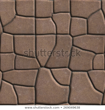 Brown Figured Paving Slabs which Imitates Natural Stone. Stock photo © tashatuvango