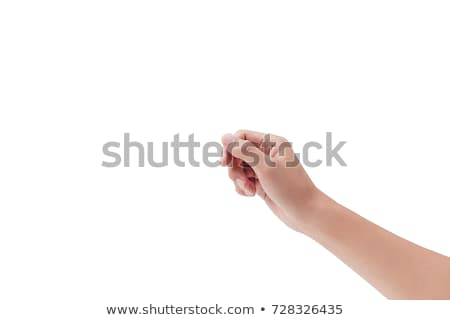 Empty card in humans hands on white Stock photo © cherezoff