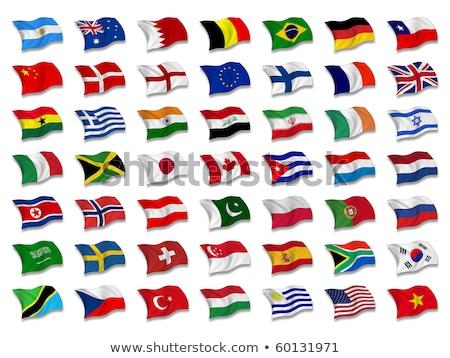 Brazília Luxemburg zászlók puzzle izolált fehér Stock fotó © Istanbul2009