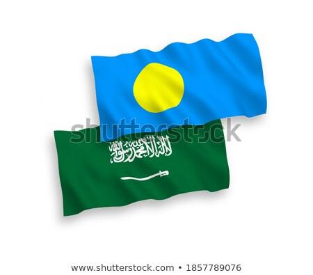 Saudi Arabia and Palau Flags Stock photo © Istanbul2009