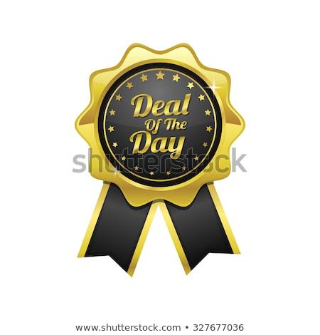 Anlaşma gün altın vektör ikon dizayn Stok fotoğraf © rizwanali3d