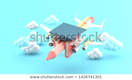3d student with a blank notepad and a pen stock photo © texelart