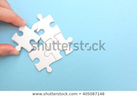 Edifício próprio negócio quebra-cabeça peça construção Foto stock © robuart