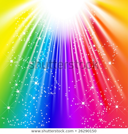 Rainbow and Starry Background Stock photo © derocz