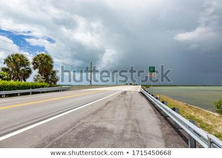 empty seven mile bridge in the keys near key west Stock photo © meinzahn