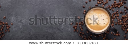 Topo para baixo ver sobremesa café dois Foto stock © ozgur
