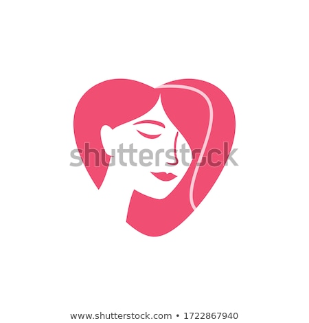 Face of a woman inside a female symbol  Stock photo © shawlinmohd