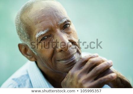 幸せそうな顔 古い アフリカ系アメリカ人 黒人男性 笑顔 皮膚 ストックフォト © zurijeta
