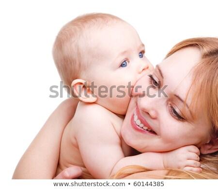 Portré angyali baba anya elvesz törődés Stock fotó © zurijeta