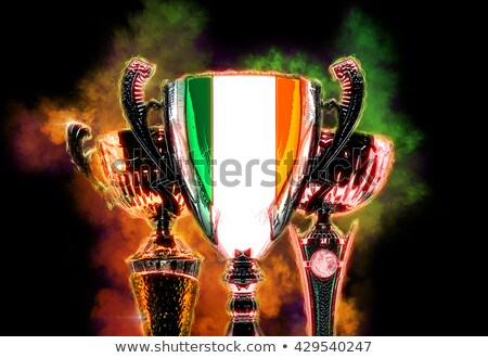 trophy cup textured with flag of ireland digital illustration stock photo © kirill_m