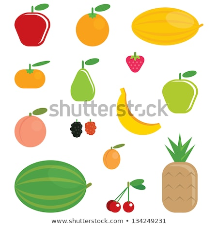 Cseresznye gyümölcs vektor egyszerű illusztráció clipart Stock fotó © doddis