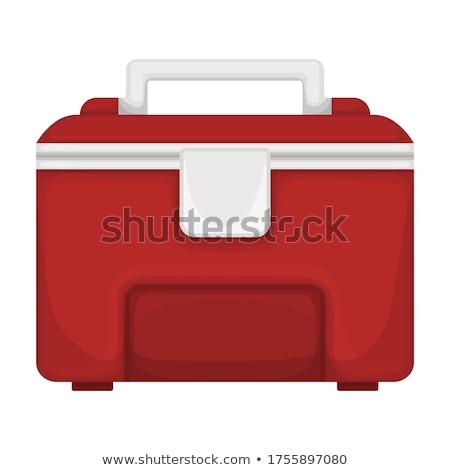Red icebox full of ice Stock photo © bluering