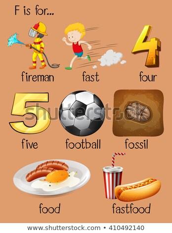 Many words for alphabet F Stock photo © bluering