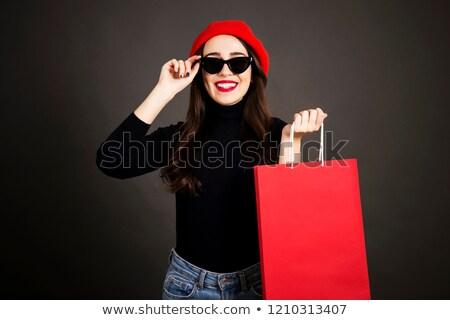 Aantrekkelijke vrouw trui naar camera Stockfoto © deandrobot