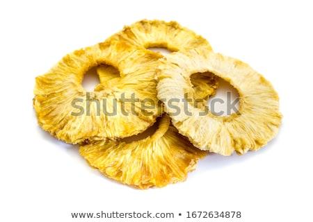 Aszalt ananász gyűrűk stúdiófelvétel Stock fotó © Digifoodstock