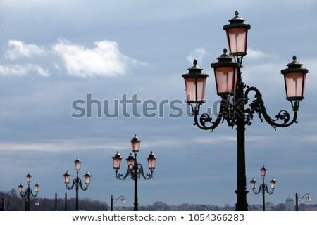 Retro street lamp and lattern Stock photo © 5xinc