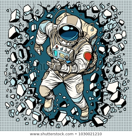 Astronaut breaks the wall, leadership and determination Stock photo © studiostoks