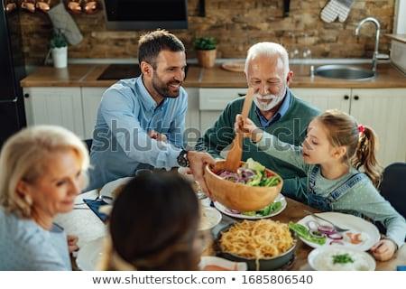 madre · figlio · pranzo · insieme · felice · alimentare - foto d'archivio © is2