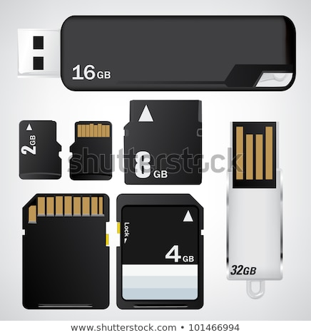 компактный Flash память карт карт белый Сток-фото © stoonn