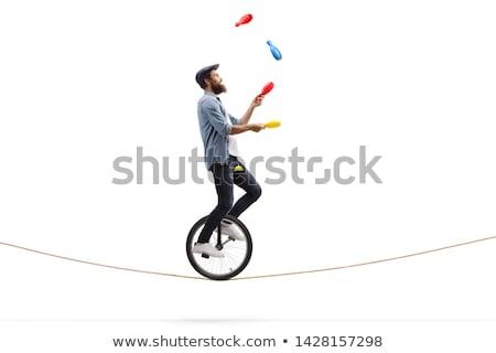 cirque · vecteur · clown · isolé · blanche · personnage - photo stock © bluering
