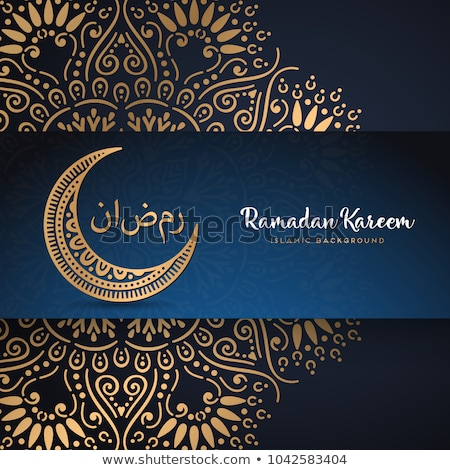 golden eid festival greeting background Stock photo © SArts