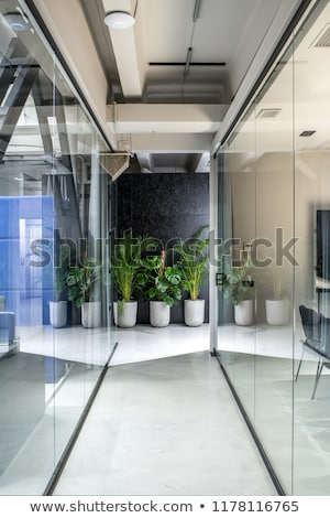 nice office in loft style with gray walls stock photo © bezikus
