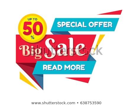 bright creative origami style sale banner Stock photo © SArts