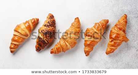 Vers croissants tabel shot twee Stockfoto © dash